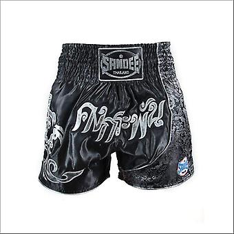 Sandee unbreakable thai shorts - black gold