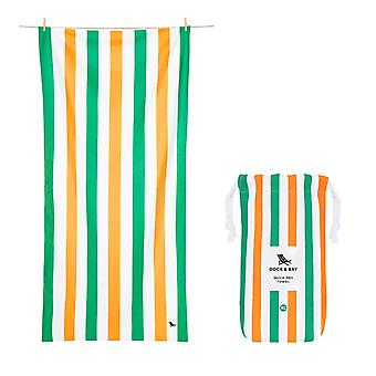 Dock & bay quick dry beach towel - summer - lazy afternoons