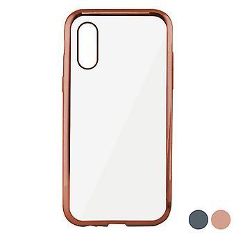 Mobile kansi Iphone X/xs KSIX Flex Metal TPU joustava/harmaa