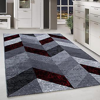 Shortflor Rug Design Living Room Rug Arrow Pattern Gris Rouge Fondu