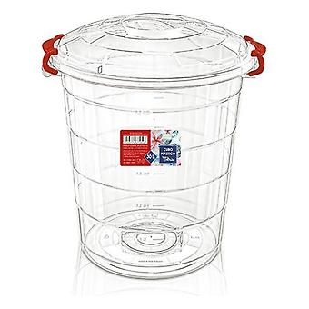 Transparent Rubbish Bin Confortime/48 x 43 x 54 - 45 L