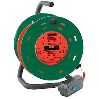 Draper 26341 25M 230V Four Socket Garden Cable Reel With RCD Adaptor