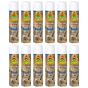 Sparset: 12 x COMPO Ants Spray, 400 ml