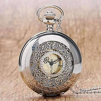 Dettaglio rotolo in argento classico orologio da tasca per uomo o donna
