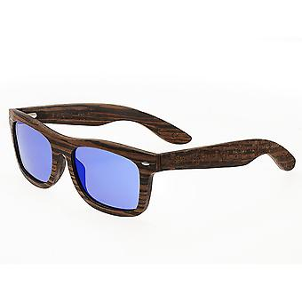 Earth Wood Maya Polarized Sunglasses - Ebony/Blue