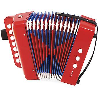 Vilac rode en blauwe muzikale accordeon