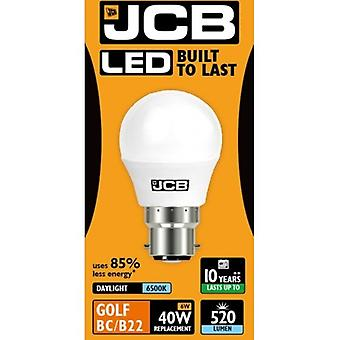 JCB LED Golf 520lm Opal 6w Light Bulb B22 6500k