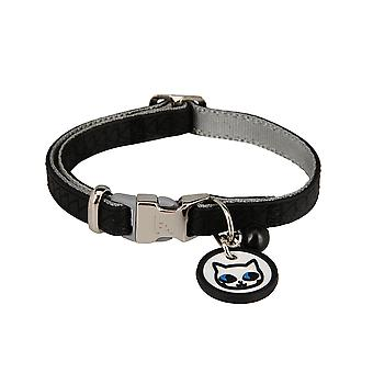 Karl Lagerfeld Pets Cats Collar in Soft Leather, Upholstery, Weatherproof, Tearproof, Water Repellent
