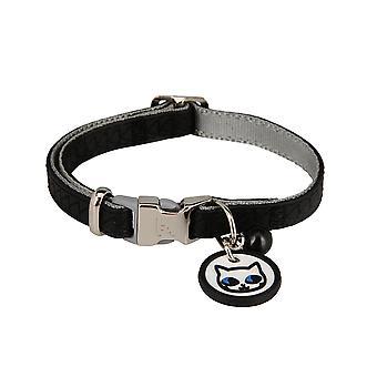 Karl Lagerfeld Haustiere Katzen Halsband aus weichem Leder, Polsterung, Wetterfest, reißfest, Wasserabweisend
