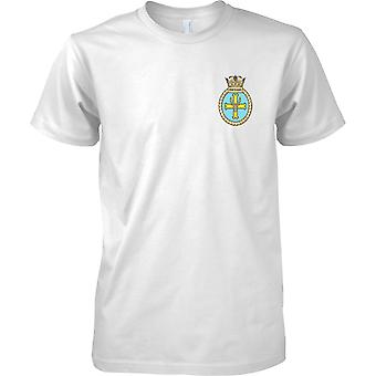 HMS Portland - nuvarande Royal Navy fartyg T-Shirt färg
