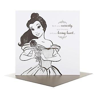 Hallmark Disney Princess Portraits Belle Birthday Card 25478189