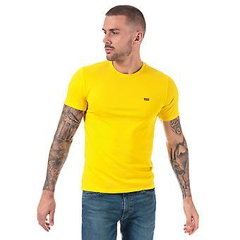 Men's Levis Original House Mark T-Shirt in Geel
