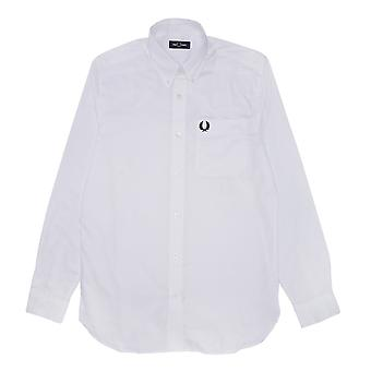 Fred Perry Oxford Shirt Wit shirt