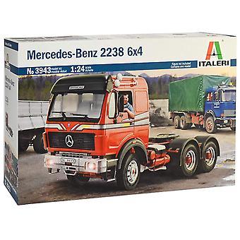 Italeri 3943-1/24 Mercedes Benz 2238 6 x 4 Model Kit