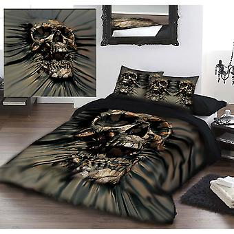Schädel rip durch - Bettdecke & Kissenbezug Set Kingsize-Bett Kunst von david penfound