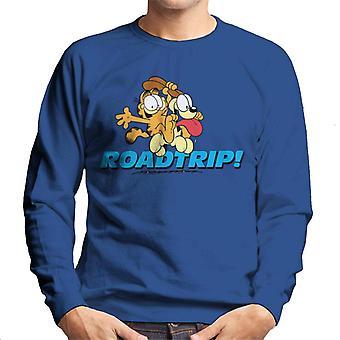 Garfield och Odie på en roadtrip män ' s Sweatshirt