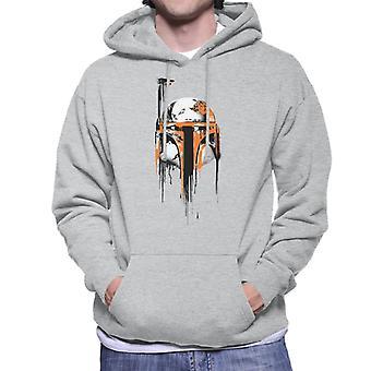 Star Wars Spray Paint Boba Fett Men's Camisola Encapuzada