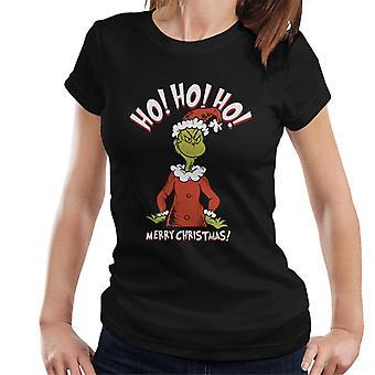 The Grinch Merry Christmas Ho Ho Ho Women's T-Shirt