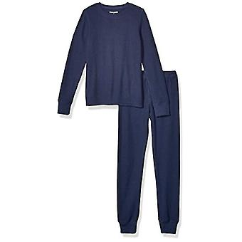 Essentials Girl's Thermal Long Underwear Set, Navy, Small