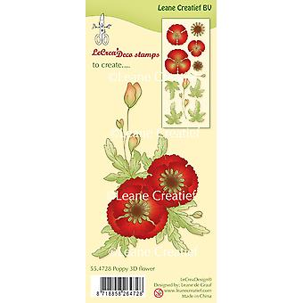 Leane Creatief Clear Stamp - Poppy