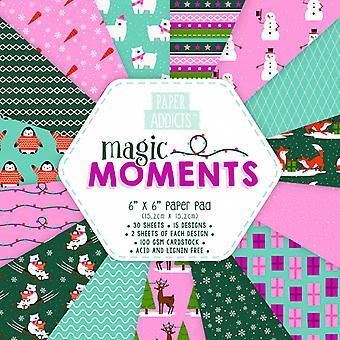 Paper Addicts Magic Moments 6x6 Inch Paper Pad