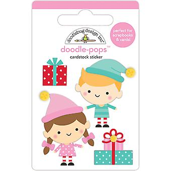 Doodlebug Design Santa's Helpers Doodle-Pops (4pcs) (6457)