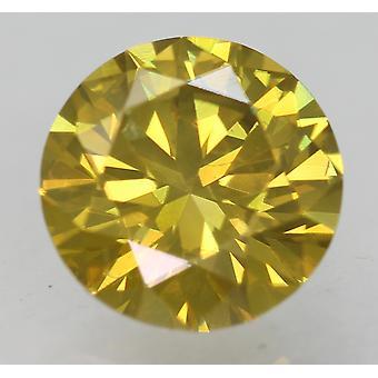 Cert 1.21 بني أصفر VVS2 جولة رائعة المحسنة الماس الطبيعي 6.95mm 3EX
