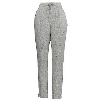 AnyBody Women's Pants Hacci Slim Leg w/ Ruffle Pockets Gray A349806