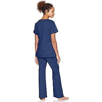 Essentials Women-apos;s Quick-Dry Stretch Scrub Top, Marine, Small
