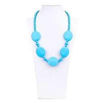 Pietra Silicone Teething Necklace - Bumkin - Blue New SJP-BLU