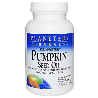 Planetary Herbals, Full Spectrum, Pumpkin Seed Oil, 1,000 mg, 90 Softgels