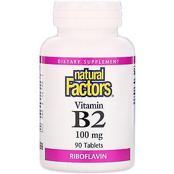 Natural Factors, Vitamin B2, Riboflavin, 100 mg, 90 Tablets