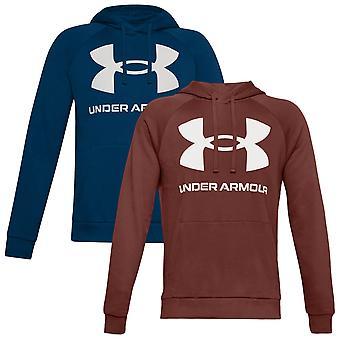 Under Armour Mens 2020 Rival Fleece Big Logo Soft Fleece Raglan Hoodie