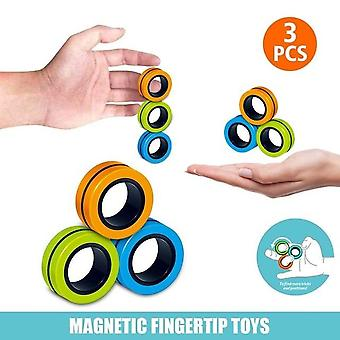 New Antistress Magnetic Ring Magic Props Decompression Toys