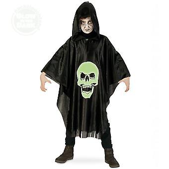 Totenkopf Umhang Halloween Kinderkostüm Skull Glow in the Dark Kostüm