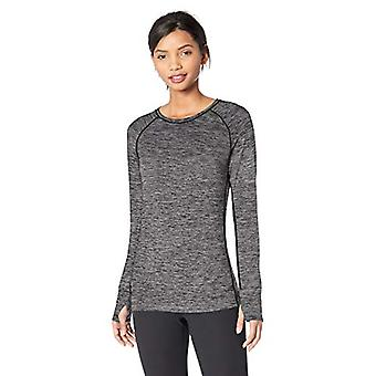 Essentials Womenăs Periat Tech Stretch Long-Sleeve Crew, Gri Închis Sp...