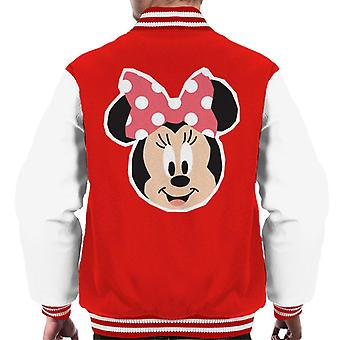 Disney Minnie Mouse Smiling Polka Dot Design Men's Varsity Jacket