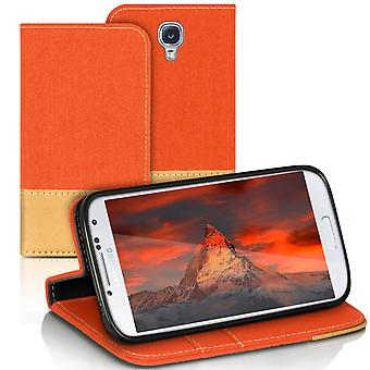 Samsung Galaxy S4 Shockproof Case Phone Card Holder Mobile Case Protection Jeans TPU