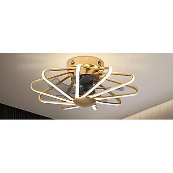 Modern Geometric Design Ceiling Fan Lamp - Acrylic Led Lighting For Bedroom
