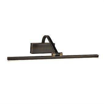 Integrated LED 1 Light Picture Wall Light Black Brushed Gold