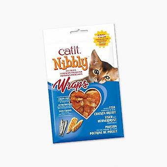 Catit Nibbly Wraps Pollo y Pescado (Cats , Treats , Eco Products)