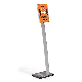 Durable 481223 Soporte de presentación Info Sign Stand A4, para retrato y paisaje