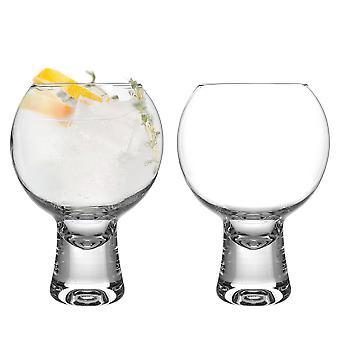 iStyle My Home 2 Piece Ikonic Gin Glasses Set - Short Stem Spanish Balloon Copa de Balon Gin and Tonic Glass - 540ml