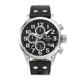 TW الصلب TWVS54 فولانتي الأسود قرص كرونوغراف ساعة اليد