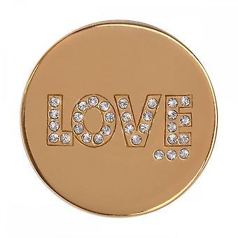 Nikki Lissoni Golden Love Medium Gold Plated Coin C1263GM