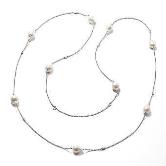 Isabella Liu Twilight Collection Diamond Necklace Rhodium Plated Silver