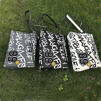 Sac portable de petite boule de golf, portes nacrées de cuir pu, tee-shirt de pack de sac à main mini