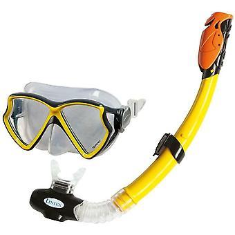 Intex Aqua Pro Mask con Snorkel No Latex - Amarillo - 55960
