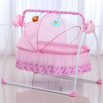 Multifunction Foldable Newborn Electric Mental Cradle Bassinet Bed With Music