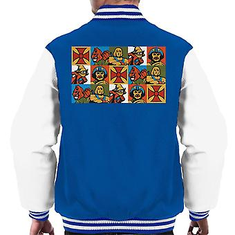 Masters Of The Universe He Man Spiegelde Montage Men's Varsity Jacket